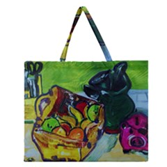 Still Life With A Pigy Bank Zipper Large Tote Bag
