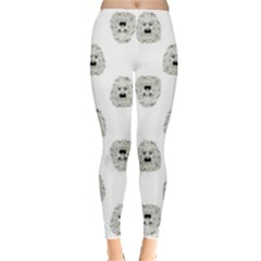 Angry Theater Mask Pattern Leggings