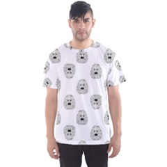 Angry Theater Mask Pattern Men s Sports Mesh Tee