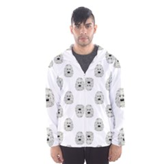 Angry Theater Mask Pattern Hooded Wind Breaker (men)