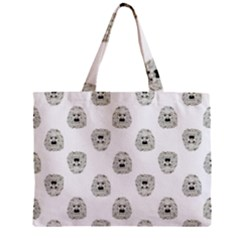 Angry Theater Mask Pattern Zipper Mini Tote Bag