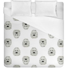 Angry Theater Mask Pattern Duvet Cover (king Size)
