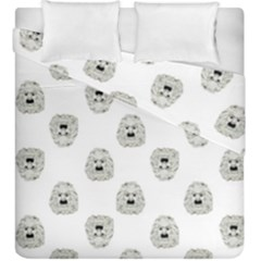 Angry Theater Mask Pattern Duvet Cover Double Side (king Size)