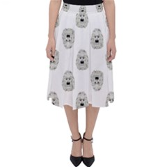Angry Theater Mask Pattern Folding Skater Skirt