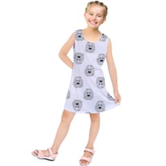 Angry Theater Mask Pattern Kids  Tunic Dress