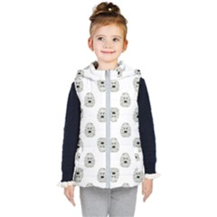 Angry Theater Mask Pattern Kid s Hooded Puffer Vest