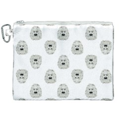 Angry Theater Mask Pattern Canvas Cosmetic Bag (xxl)