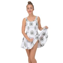 Angry Theater Mask Pattern Inside Out Casual Dress