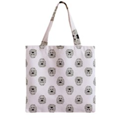 Angry Theater Mask Pattern Grocery Tote Bag