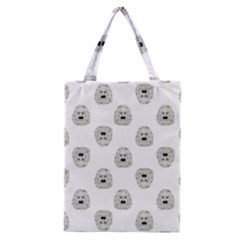Angry Theater Mask Pattern Classic Tote Bag
