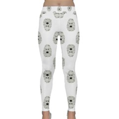 Angry Theater Mask Pattern Classic Yoga Leggings