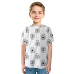 Angry Theater Mask Pattern Kids  Sport Mesh Tee