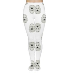 Angry Theater Mask Pattern Women s Tights