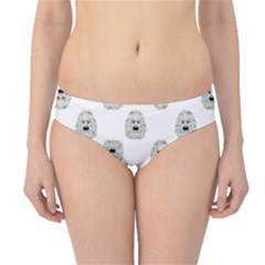 Angry Theater Mask Pattern Hipster Bikini Bottoms