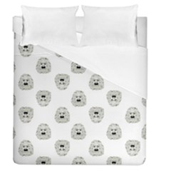Angry Theater Mask Pattern Duvet Cover (queen Size)