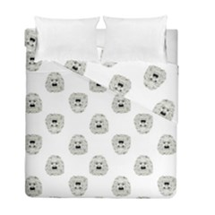 Angry Theater Mask Pattern Duvet Cover Double Side (full/ Double Size)