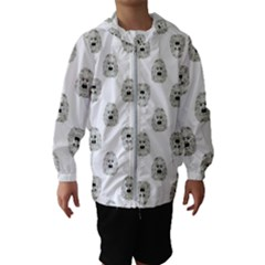 Angry Theater Mask Pattern Hooded Wind Breaker (kids)