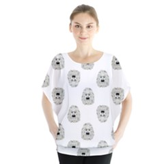 Angry Theater Mask Pattern Blouse