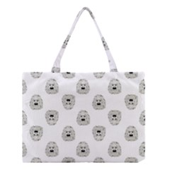 Angry Theater Mask Pattern Medium Tote Bag