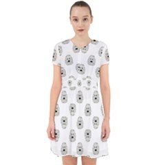Angry Theater Mask Pattern Adorable In Chiffon Dress