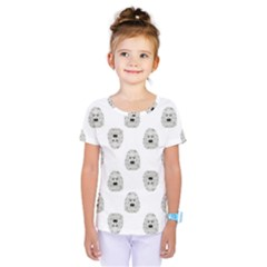 Angry Theater Mask Pattern Kids  One Piece Tee