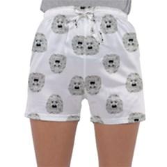 Angry Theater Mask Pattern Sleepwear Shorts