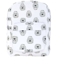 Angry Theater Mask Pattern Full Print Backpack