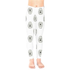 Angry Theater Mask Pattern Kids  Legging