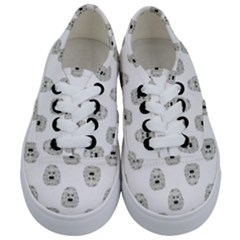 Angry Theater Mask Pattern Kids  Classic Low Top Sneakers