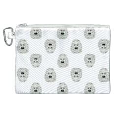 Angry Theater Mask Pattern Canvas Cosmetic Bag (xl)