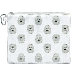 Angry Theater Mask Pattern Canvas Cosmetic Bag (xxxl) by dflcprints