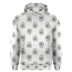 Angry Theater Mask Pattern Men s Overhead Hoodie