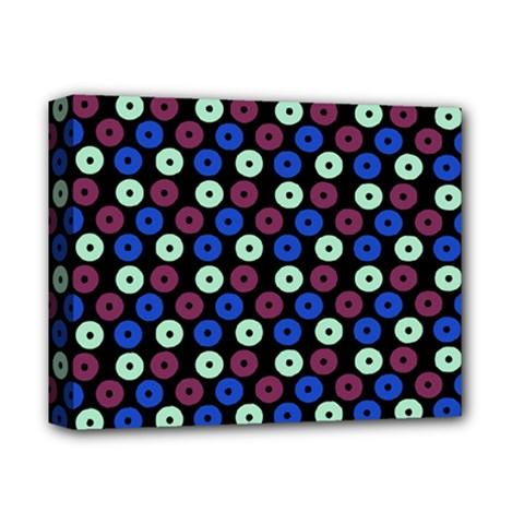 Eye Dots Blue Magenta Deluxe Canvas 14  X 11