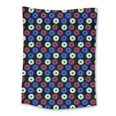 Eye Dots Blue Magenta Medium Tapestry