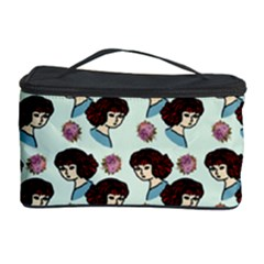 Redhead Girl Blue Cosmetic Storage Case