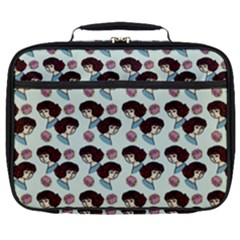 Redhead Girl Blue Full Print Lunch Bag