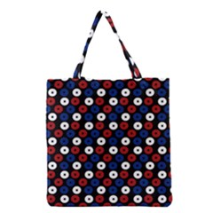 Eye Dots Red Blue Grocery Tote Bag