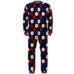 Eye Dots Red Blue Onepiece Jumpsuit (men)  by snowwhitegirl