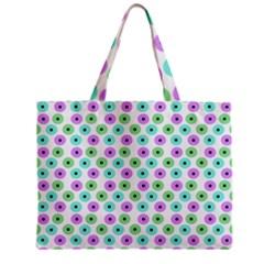 Eye Dots Green Violet Zipper Mini Tote Bag