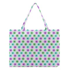 Eye Dots Green Violet Medium Tote Bag