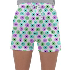 Eye Dots Green Violet Sleepwear Shorts