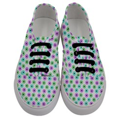 Eye Dots Green Violet Men s Classic Low Top Sneakers