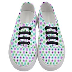 Eye Dots Green Violet Women s Classic Low Top Sneakers