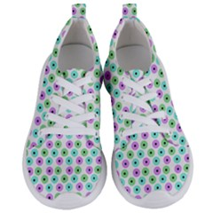 Eye Dots Green Violet Women s Lightweight Sports Shoes