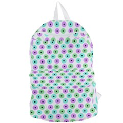 Eye Dots Green Violet Foldable Lightweight Backpack