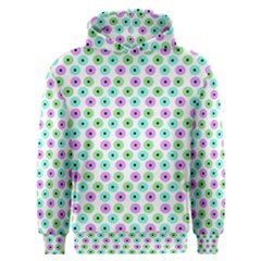 Eye Dots Green Violet Men s Overhead Hoodie