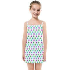 Eye Dots Green Violet Kids Summer Sun Dress