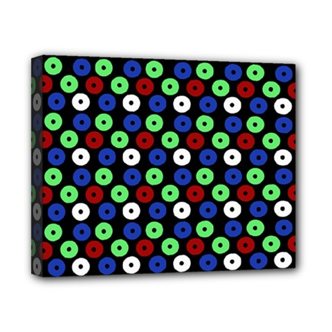 Eye Dots Green Blue Red Canvas 10  X 8