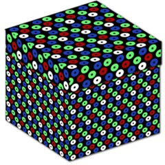 Eye Dots Green Blue Red Storage Stool 12