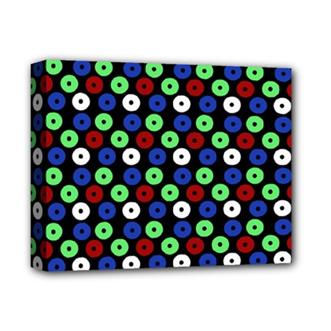 Eye Dots Green Blue Red Deluxe Canvas 14  X 11